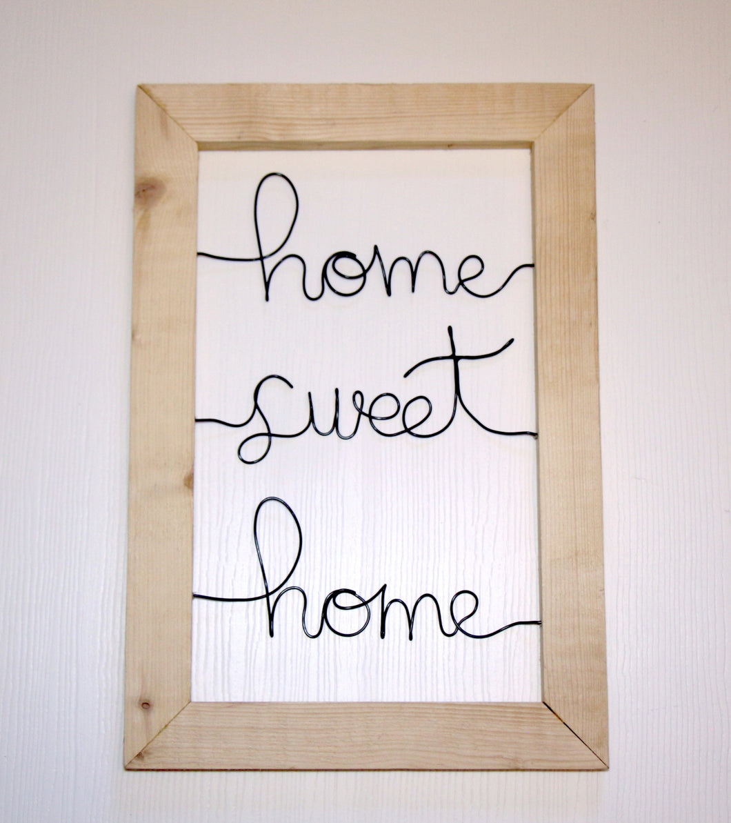Home Sweet Home Wire Wall Décor - JV Country Creations