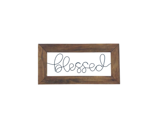 Blessed Wire Wall Décor Sign - JV Country Creations