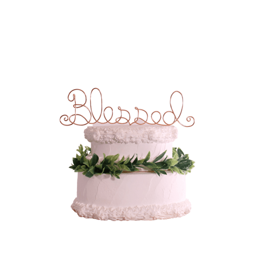 Blessed Wire Wedding Cake Topper - JV Country Creations