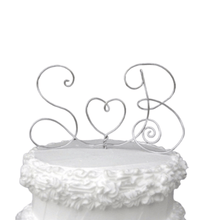 Load image into Gallery viewer, Monogram Wire Wedding Cake Topper - JV Country Creations