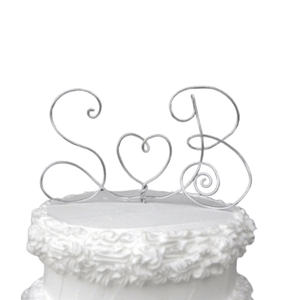 Monogram Wire Wedding Cake Topper - JV Country Creations