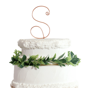 Monogram Wire Cake Topper - JV Country Creations
