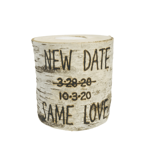 Corona Bride New Wedding Date Birch Candle - JV Country Creations