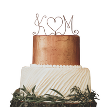 Load image into Gallery viewer, Monogram Wire Wedding Cake Topper