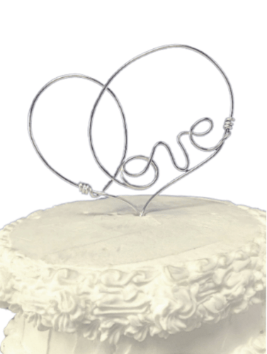 Love Heart Cake Topper - JV Country Creations