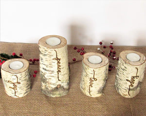 Rustic Birch Candle Set - JV Country Creations