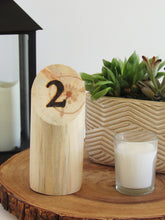 Load image into Gallery viewer, Wood Burned Log Table Numbers - JV Country Creations
