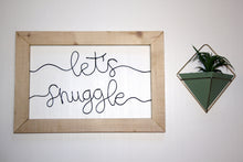 Load image into Gallery viewer, Let's Snuggle Wire Wall Décor - JV Country Creations