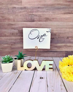 Wooden Love Table Number Stands - JV Country Creations