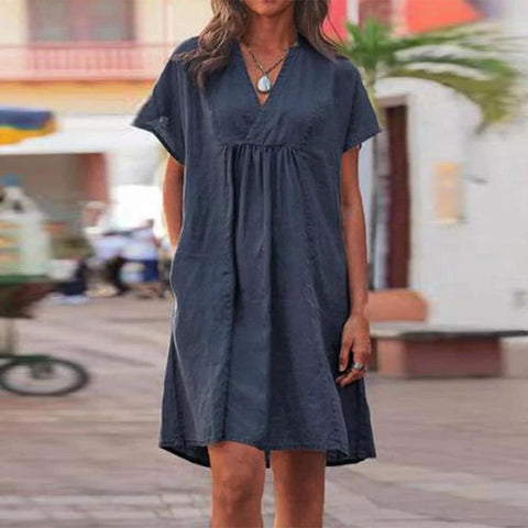 Again and Again Navy Dress-Navy-S-