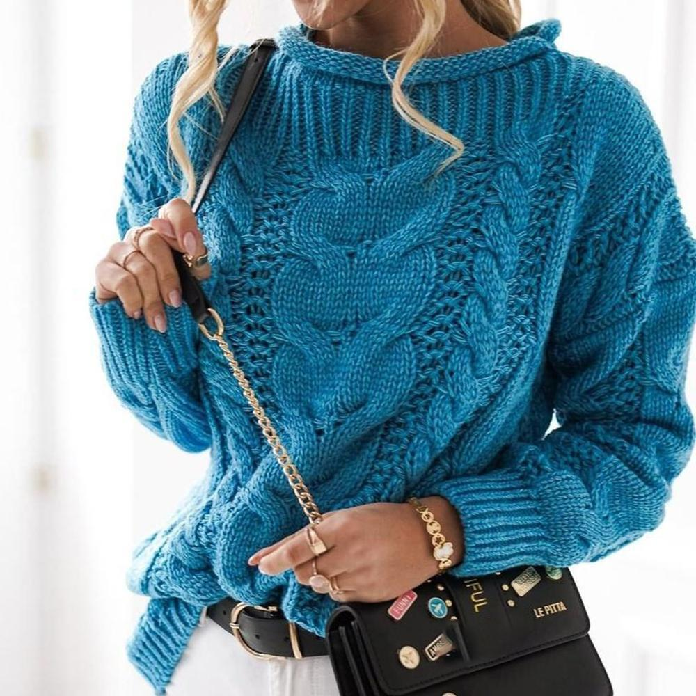 At the Top Blue Sweater-Blue-S-