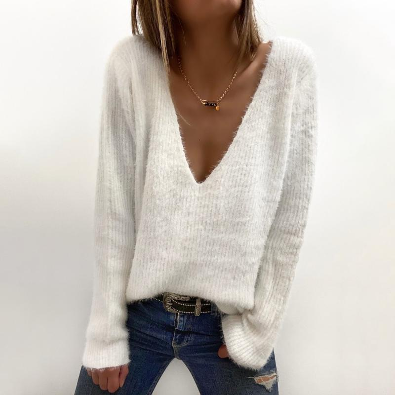 Back and Forth White Sweater-White-S-