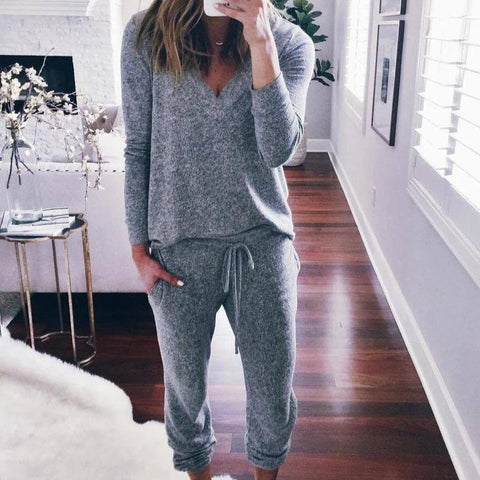 Best Possible Situation Grey Jogger Set-GREY-S-
