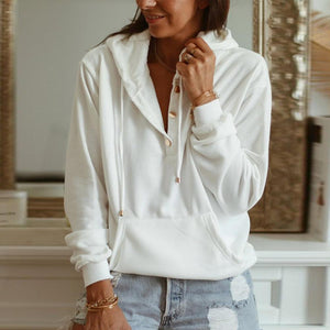 Better All The Time White Hoodie-White-S-