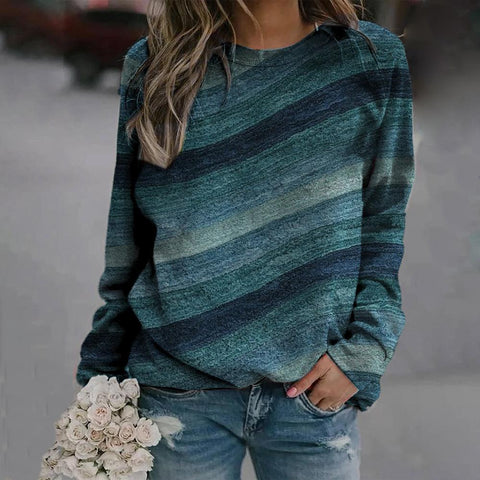 Changing Seasons Striped Top-Green-S-