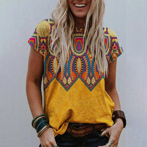 Classy Casual Printed T-Shirt-Yellow-S-
