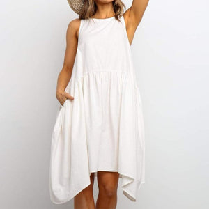 Clean Slate White Dress-Ivory-S-