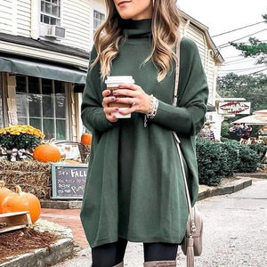 Cotton Blend Casual Long Sleeve Tee Top-GREEN-S-
