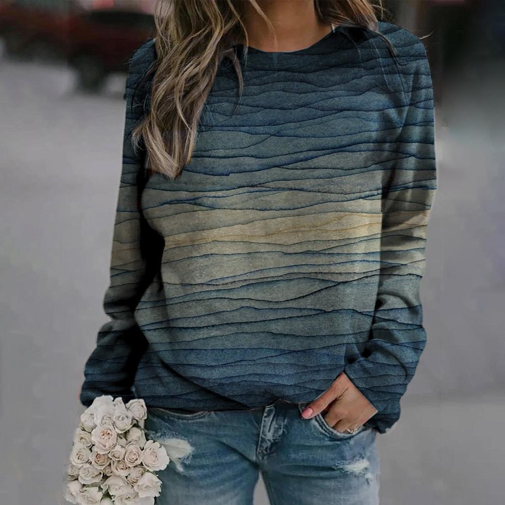 Do the Wave Printed Sweatshirt-Multicolor-S-