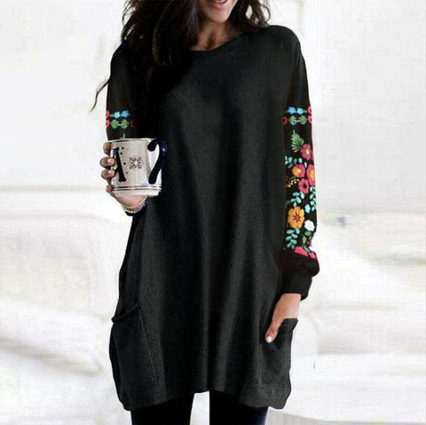 Endless Possibilities Black Pocket Tunic-Black-S-
