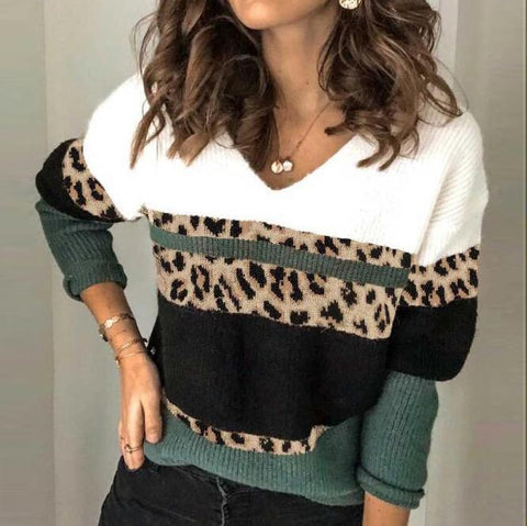 Fiercely Fashionable Colorblock Sweater-Green-S-
