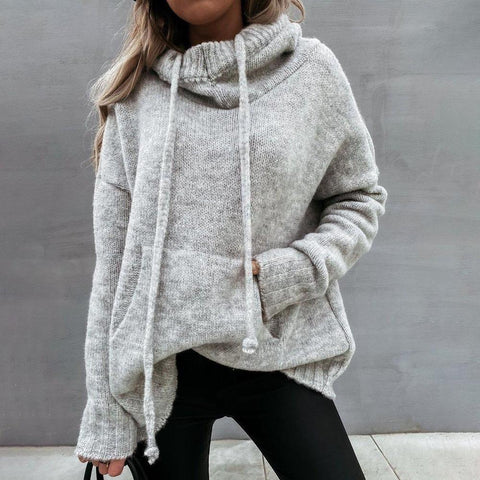 Get Comfortable Grey Sweatshirt-Grey-S-