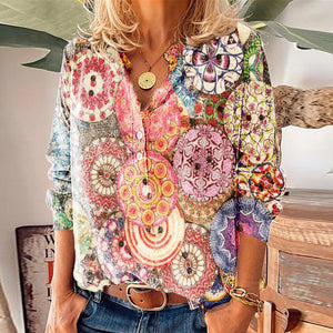 Just After Sunrise Printed Shirt-Multicolor-S-