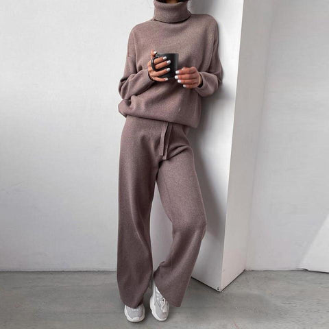 Keeping Up Loungewear Set-Coffee-S-