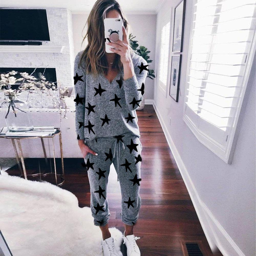 Kiss the Stars Grey Sweats Lounge Set-Grey-S-