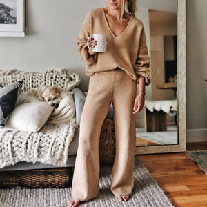 Make Your Case Camel Loungewear Set-Brown-S-