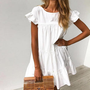 My Pretty Baby White Dress-White-S-