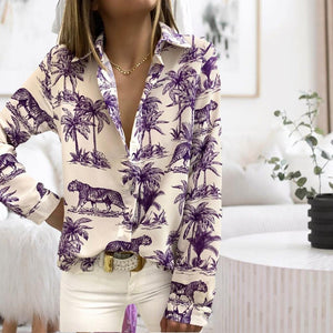 Now and Forever Printed Shirt-Purple-S-