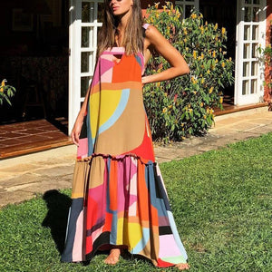 On Display Geo Print Maxi Dress-MULTICOLOR-S-