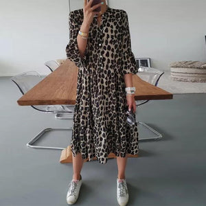 On the Hunt Leopard Print Dress-Leopard-S-
