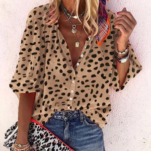 On the Hunt Spotted Shirt-Khaki-S-