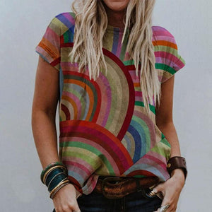 Over the Rainbow T-shirt-Multicolor-S-