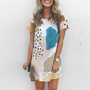 Paint a Picture Dress-White-S-