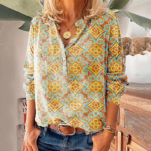 Picking Favorites Printed Shirt-Gold-S-