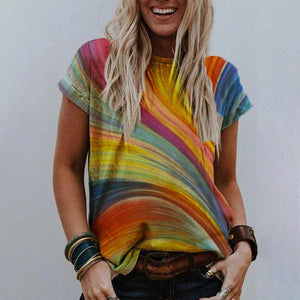 Picture Perfect Printed Top-Multicolor-S-
