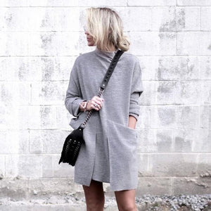 Pocket Full of Posies Grey Dress-GRAY-S-