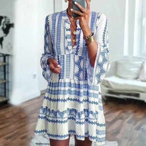 Ready for an Adventure Dress-BLUE-S-