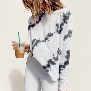 Rest and Relaxation Tie Dye Top-White-S-