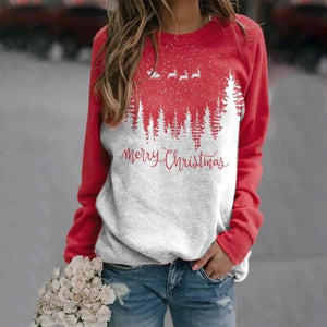 Stylish Simple Long Sleeve Letter Printed Sweatshirt-Red-S-