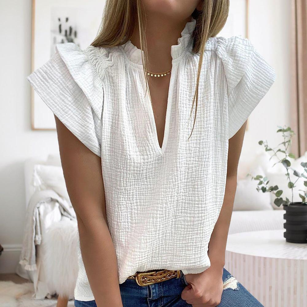 Sweet Treat White Blouse-White-S-