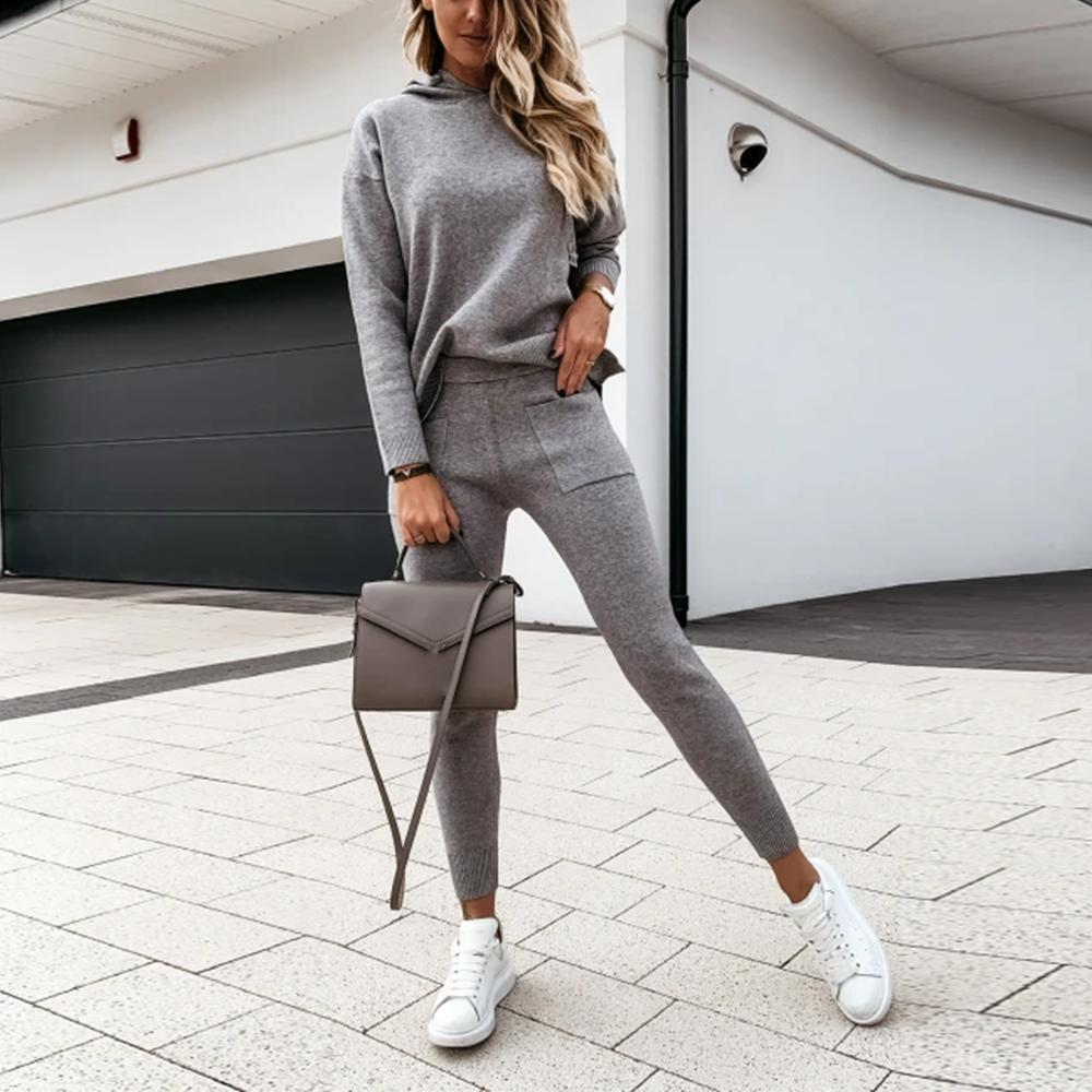 Work It Out Grey Lounge Set-Grey-S-