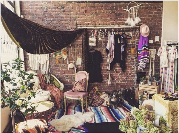 gypsy caravan barbarella pop up shop