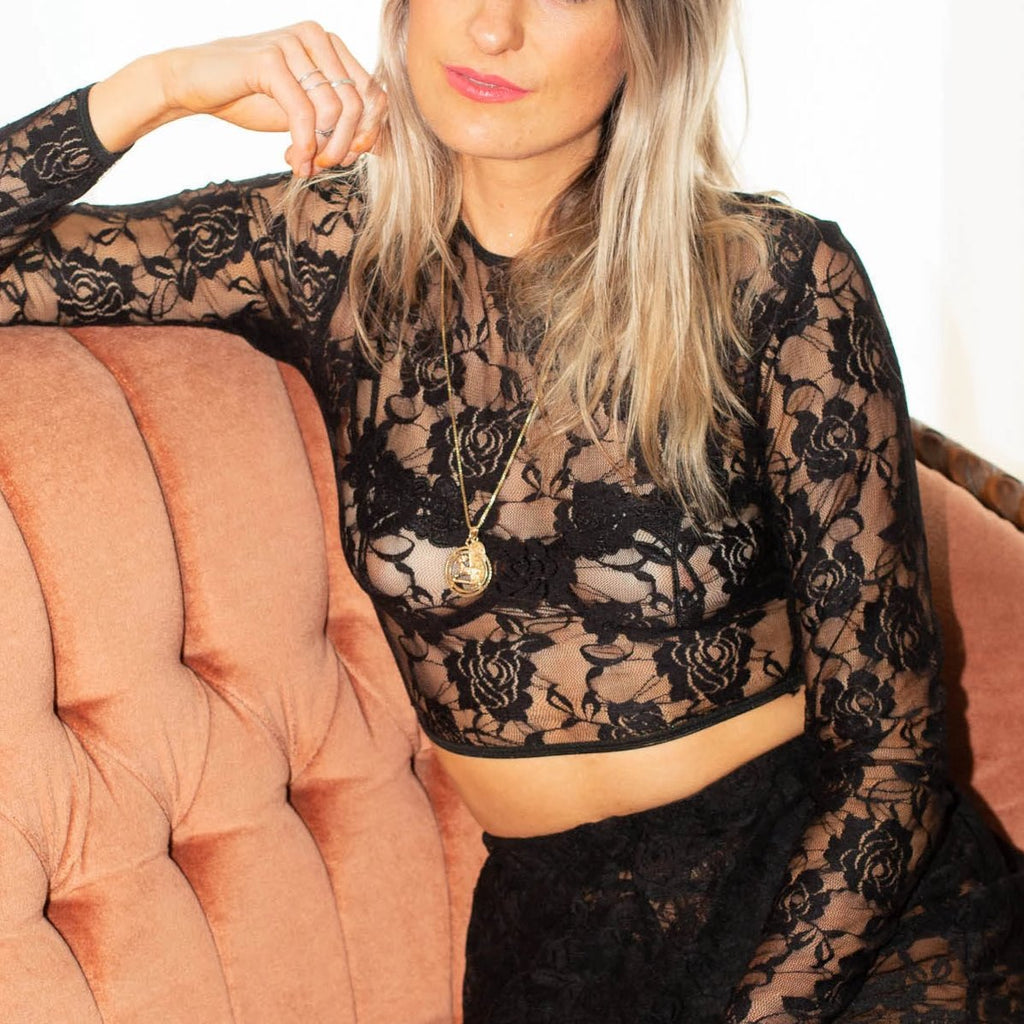 Eternal Rose Lace Crop Top