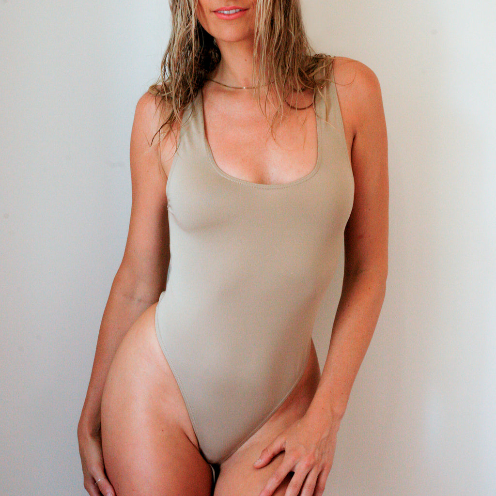 Hanna Thong Bodysuit in Nude (Only 1 left!)