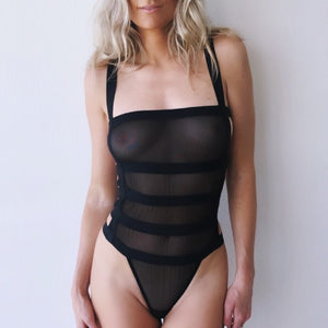 Angelina Sheer Mesh Bodysuit