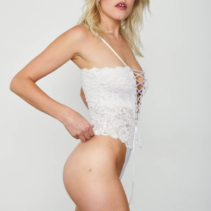Reversible Spinster Bodysuit in White